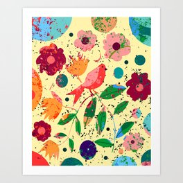 Spring is exciting Art Print