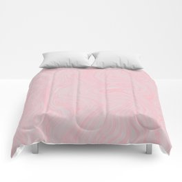 Modern abstract pink gray watercolor brushstrokes pattern Comforters