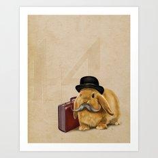 Commuter Bunny Art Print