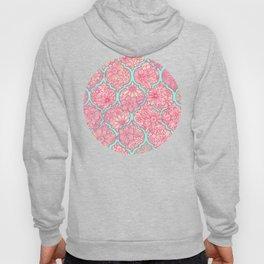 Moroccan Floral Lattice Arrangement in Pinks Hoody