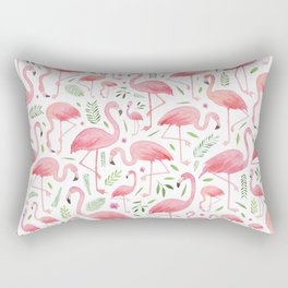 Flamingo Floral Pattern! Rectangular Pillow
