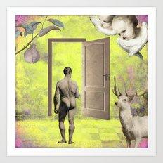 A walk in the light Art Print