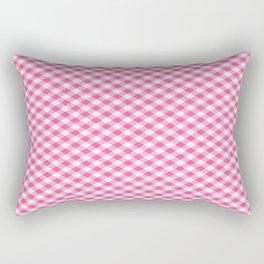 Pink Roses in Anzures 1 Gingham 1 Rectangular Pillow
