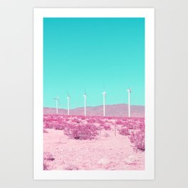 Palm Springs Windmills in the Desert Art Print