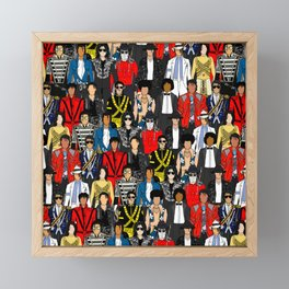 King MJ Pop Music Fashion LV Framed Mini Art Print