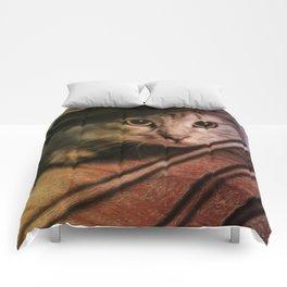 Crouching Kitty  Comforters