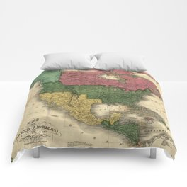 Map of North America (1826) Comforters