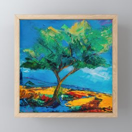 Lonely Olive Tree Framed Mini Art Print
