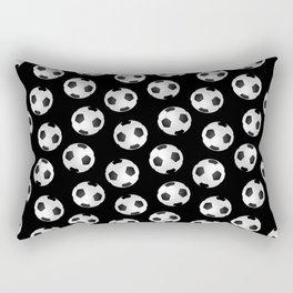 Soccer Ball Pattern-Black Rectangular Pillow