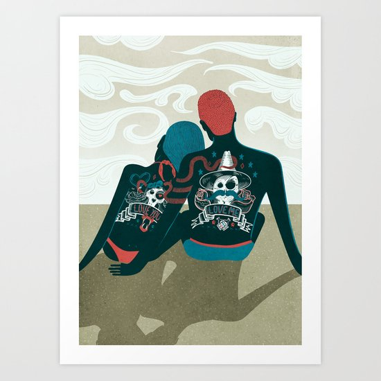 Love You / Love Me - Us and Them Art Print