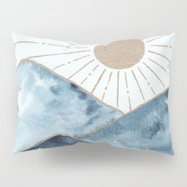 Indigo & gold landscape 1 Pillow Sham