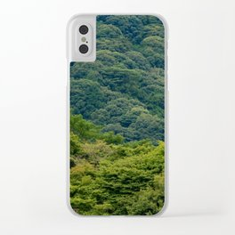 Japanese forest temple Clear iPhone Case