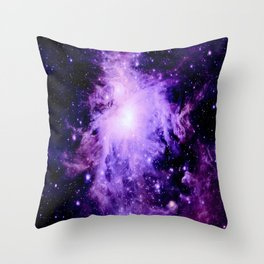 Orion nebUla. : Purple Galaxy Throw Pillow