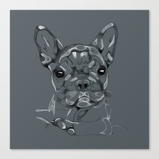Sketchy Frenchie Canvas Print