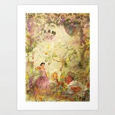 dreaming backward Art Print