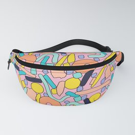 CIRCLES IN MOTION - pastel love Fanny Pack