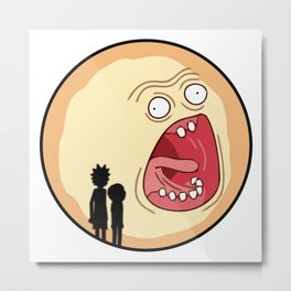 Rick & Morty Screaming Sunrise Metal Print