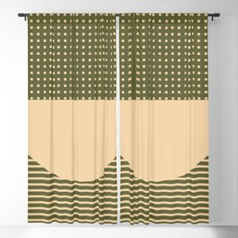 Geometric Spring Abstract - Pantone Warm color Blackout Curtain