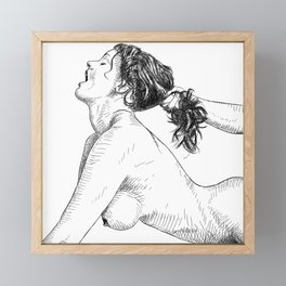 Pull them hard baby Framed Mini Art Print