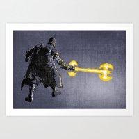 Bat Sabre Awakens Art Print