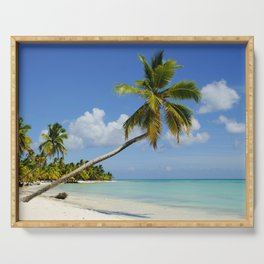 Palm Tree in Dominican Republic Serving Tray