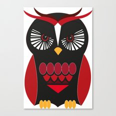 Evil Owl Canvas Print