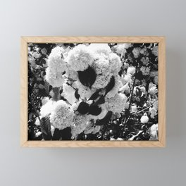 Black and White Snowballs Framed Mini Art Print