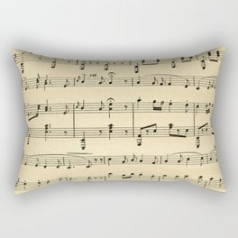 Antique Sheet Music Rectangular Pillow