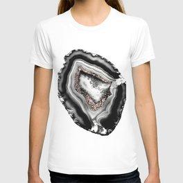 Agate Rose Gold Glitter Glam #1 #gem #decor #art #society6 T-shirt