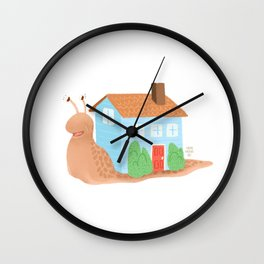 Home Snail Home Wall Clock