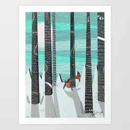 Adventures is Out there - Red Fox Art Print