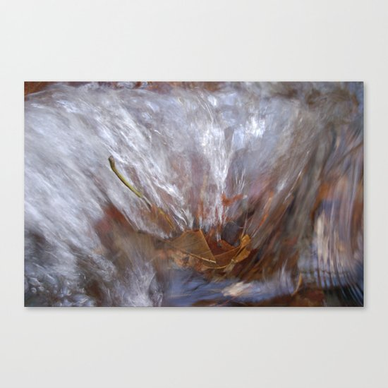 Burning leaf Canvas Print