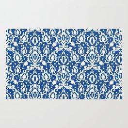 Blue Casbah Damask Rug
