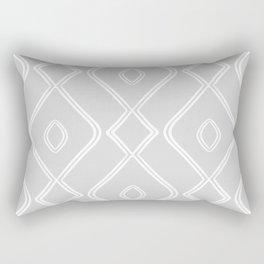 Modern Boho Ogee in Grey Rectangular Pillow