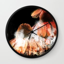 """""""Stalactites and Coneflowers"""" Wall Clock"""