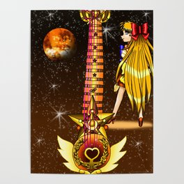 Sailor Moon Guitar #3 - Sailor Venus (Minako Aino) Poster