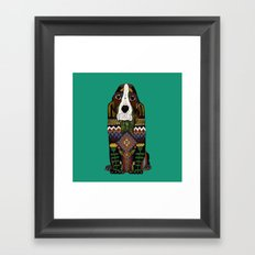 Basset Hound jade Framed Art Print