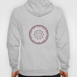 Leaf and petal floral Mandala with radial symmetry Hoody