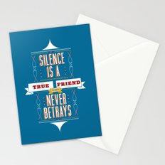 Silence Is Stationery Cards