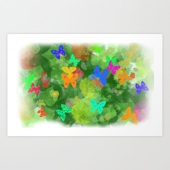 jungle nehir umay çoruh Art Print