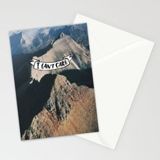I Can't Care Stationery Cards