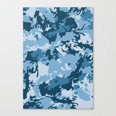 blue fir camo Canvas Print