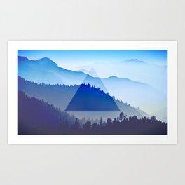 The Mountain Eye  Art Print