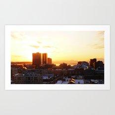 Anchorage Sunset Art Print