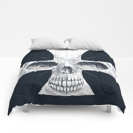 skull and cross Comforters