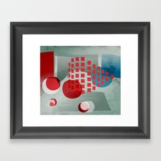 when in doubt wear red Framed Art Print