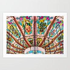 Victorian Carousel Swings Art Detail Art Print