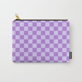 Pale Lavender Violet and Lavender Violet Checkerboard Carry-All Pouch