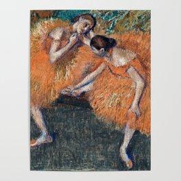 Edgar Degas  -  Two Dancers Around Poster