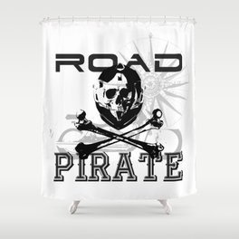 Road Pirates Shower Curtain